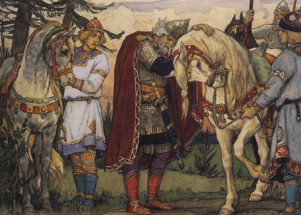 Прощание Олега с конем. В.Васнецов