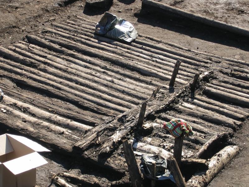 На раскопе, Староладожская археологическая экспедиция