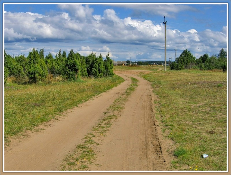Дорога, южный берег Ладожского озера