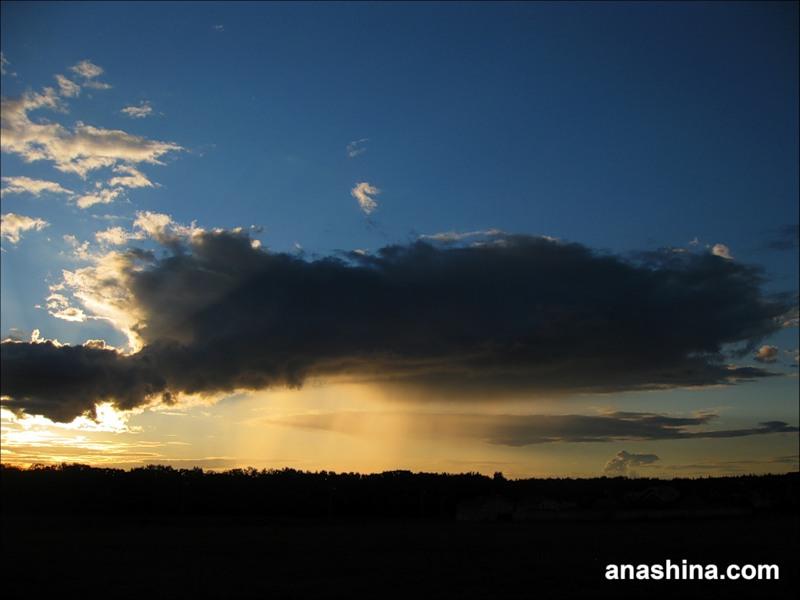 Облако на закате, сентябрь в Подмосковье