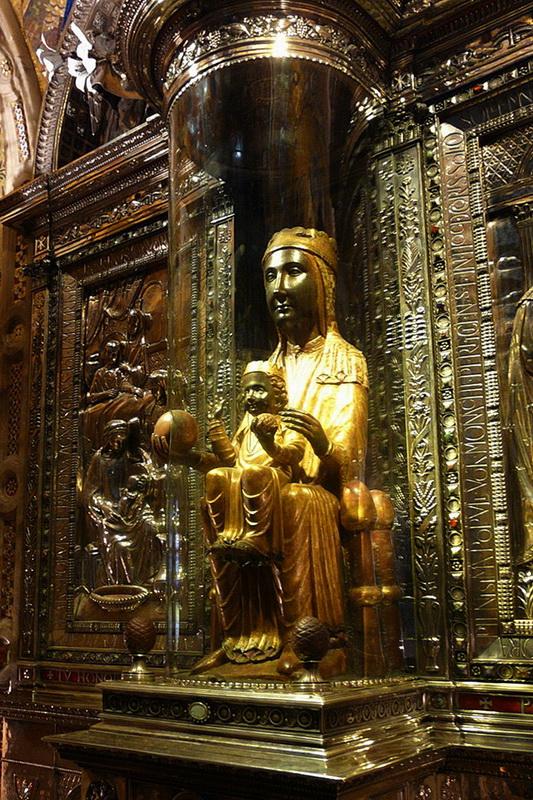 Черная Мадонна, монастырь Монтсеррат