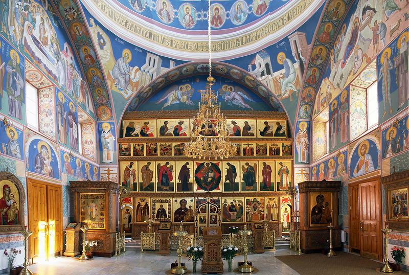 Покровский Хотьков монастырь. Внутреннее убранство Покровского собора