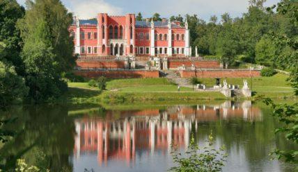 Усадьба Марфино: усадебный дом-дворец, партер и пристань