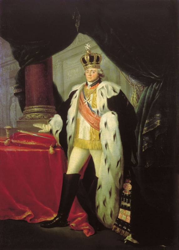 С. Тончи. Портрет Павла I в одеянии гроссмейстера Мальтийского ордена, 1801