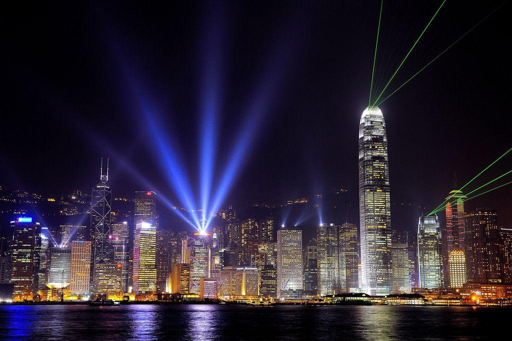 Праздничная подсветка Гонконга