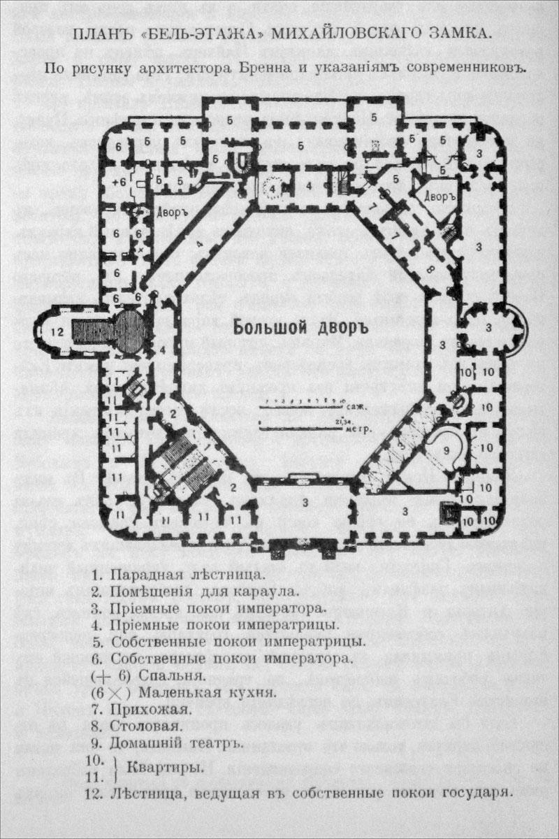 План Михайловского замка