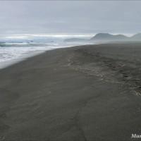 Халактырский пляж: черный песок и Тихий океан