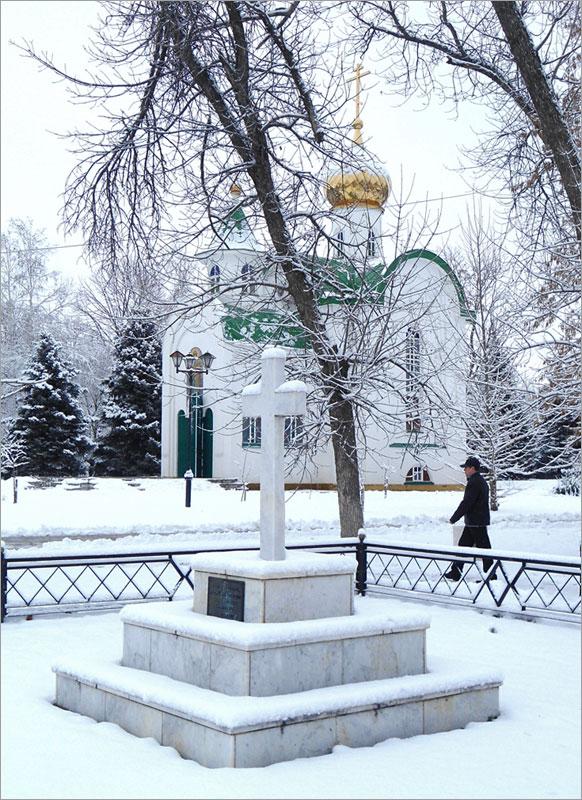 Кубань, Тимашевск, памятный крест