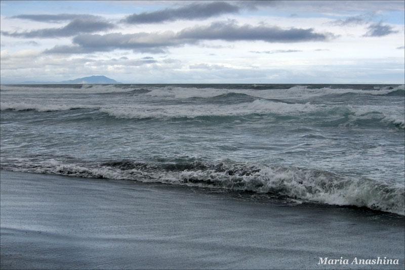 Халактырский пляж, Камчатка, Тихий океан, мыс Налычева