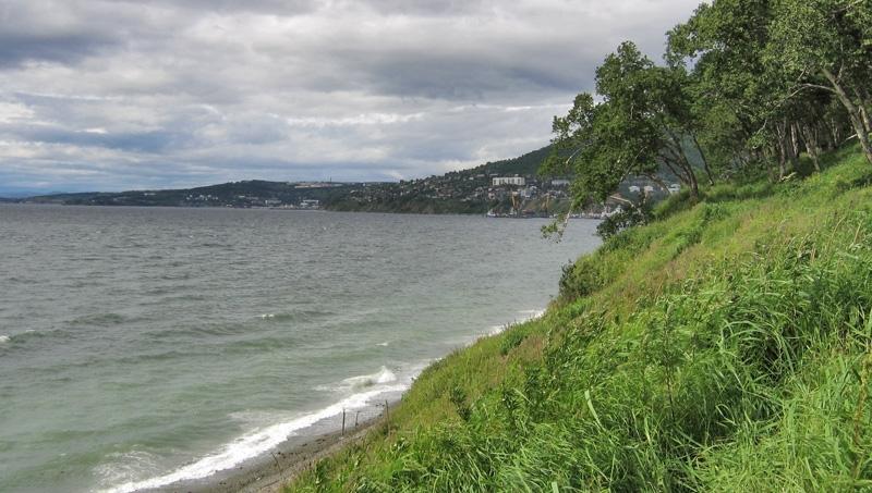 Вид с Никольской сопки на Петропавловск-Камчатский и порт