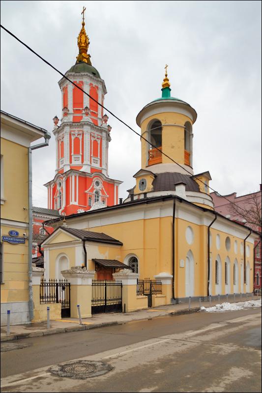 Церковь Федора Стратилата, храм Архангела Гавриила (Меншикова башня)