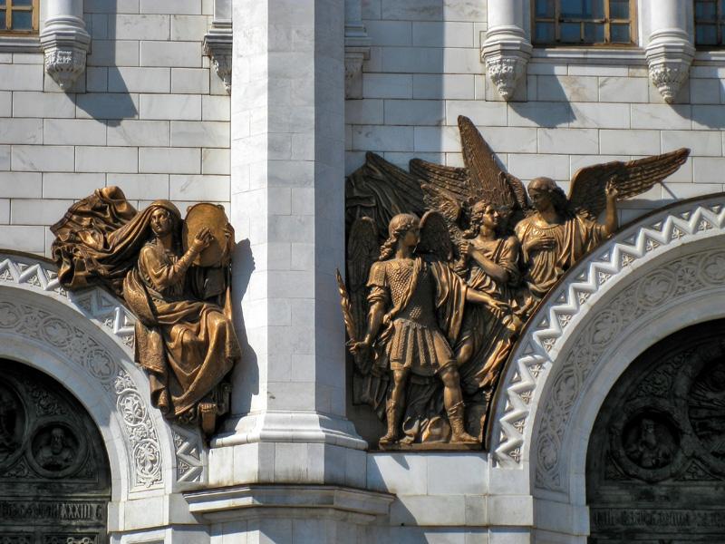 Храм Христа Спасителя, барельефы