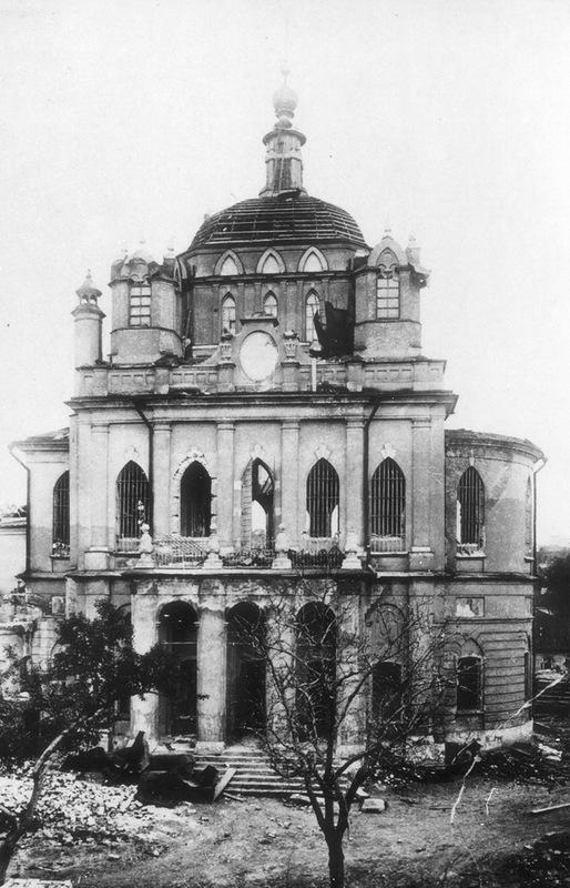 Зачатьевский монастырь, собор Рождества Пресвятой Богородицы перед разрушением
