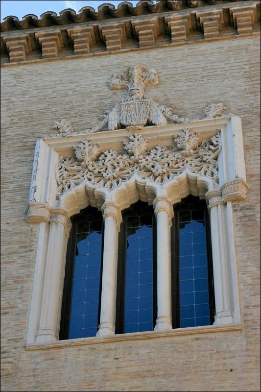 Дворец Альхаферия, окно, Сарагоса