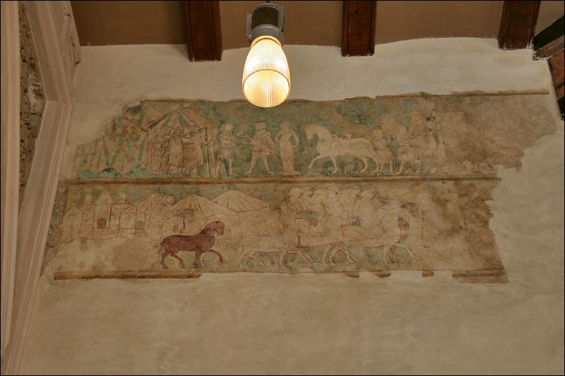 Дворец Альхаферия, Золотой зал, роспись стены, Сарагоса