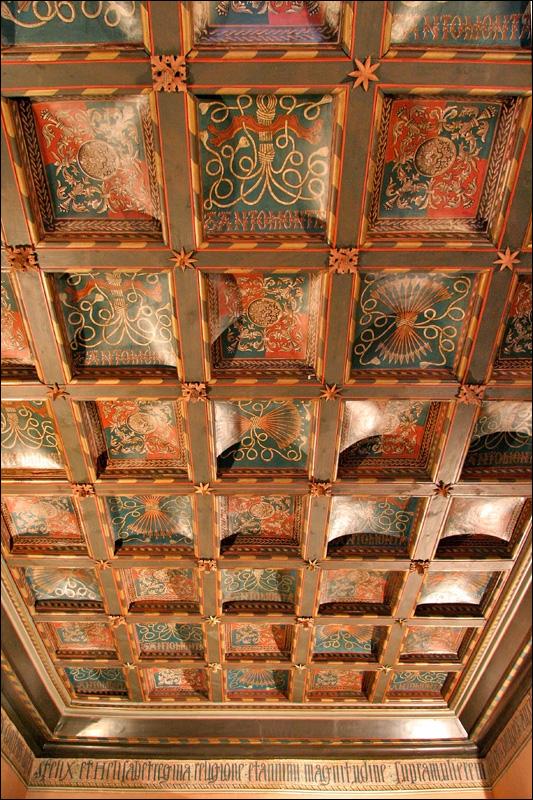 Дворец Альхаферия, покои Католических королей, потолок, Сарагоса