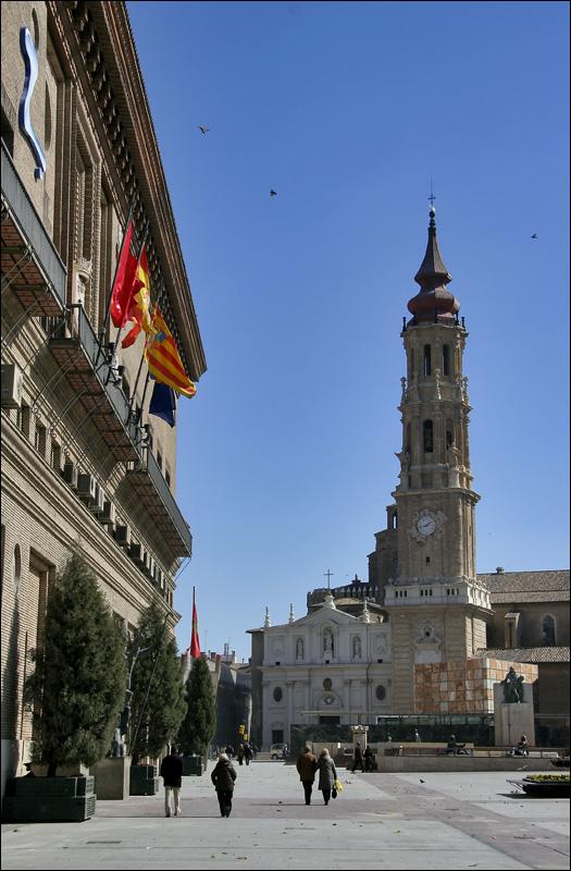 Площадь Пласа дель Пилар и собор Ла Сео