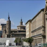 Площадь Пилар и улицы в центре Сарагосы