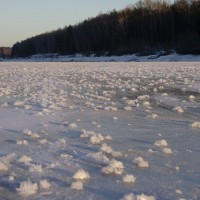 Одним зимним днем на канале имени Москвы