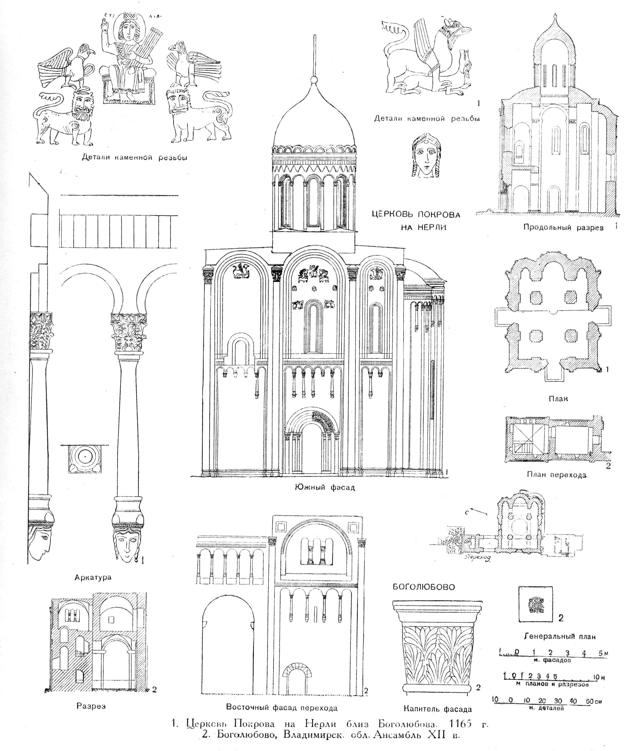 Храм Покрова на Нерли и замок Андрея Боголюбского