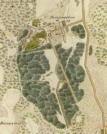 Село Петровское и будущий Тимирязевский парк