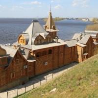 Набережная, Волга и «Город мастеров» в Городце