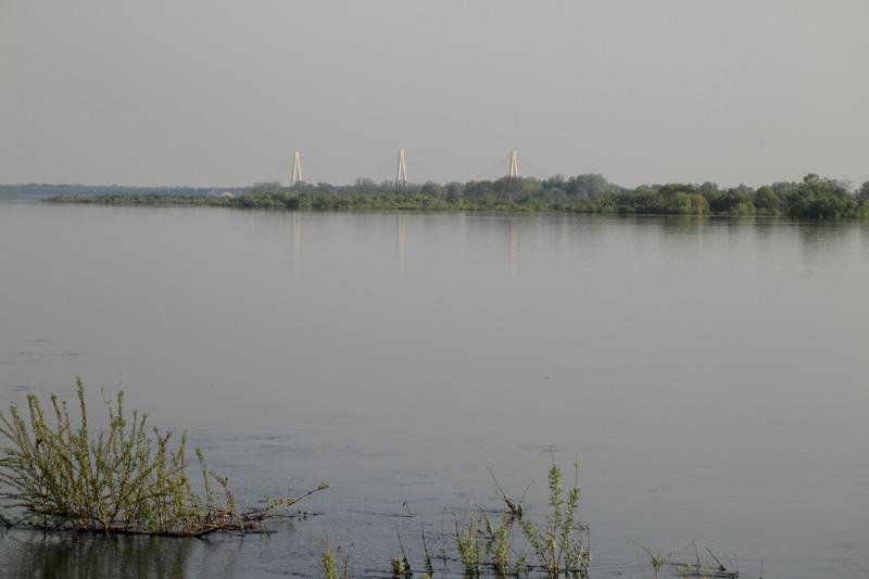 Река Ока и вантовый мост