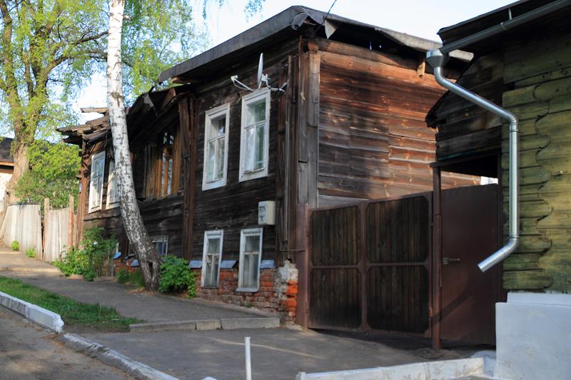 Муром, деревянная застройка вдоль Окского съезда