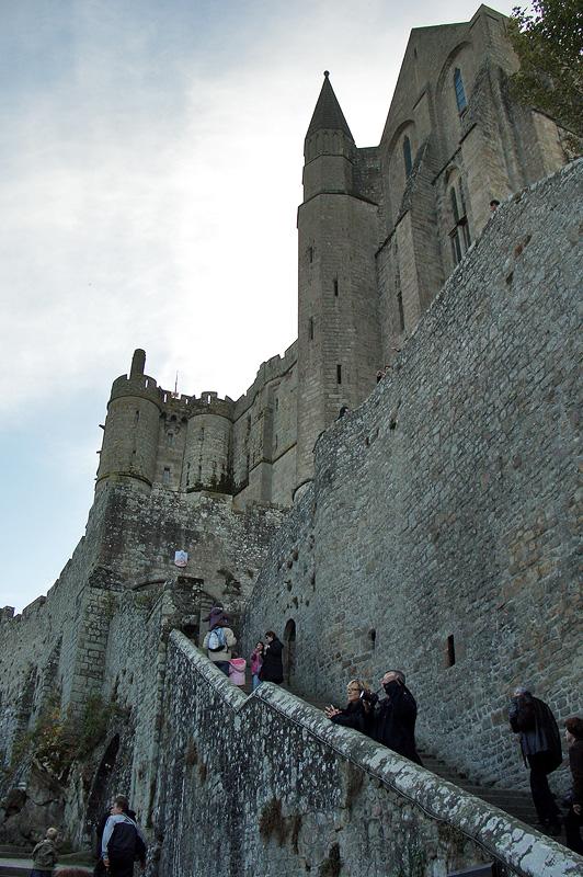 Мон-Сен-Мишель, наружная часть лестницы Гран Дегре