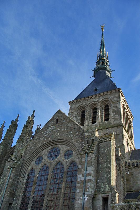 Башня и шпиль Мон-Сен-Мишель