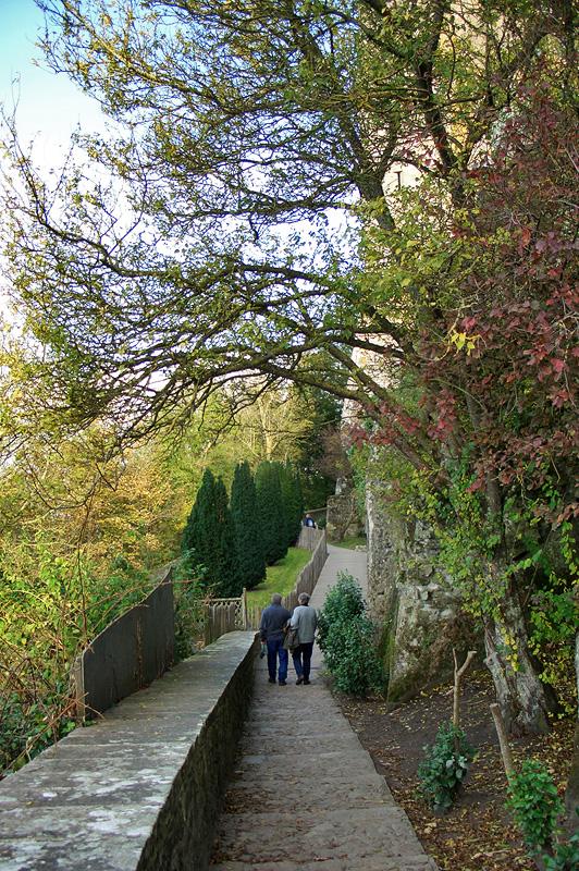 Монастырский сад в Мон-Сен-Мишель