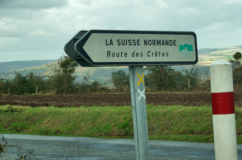 Указатель в сторону Нормандской Швейцарии