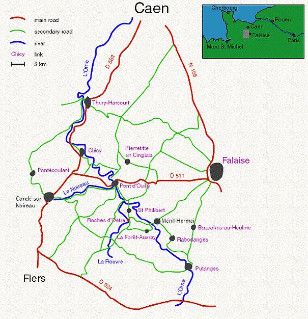 Карта Нормандской Швейцарии