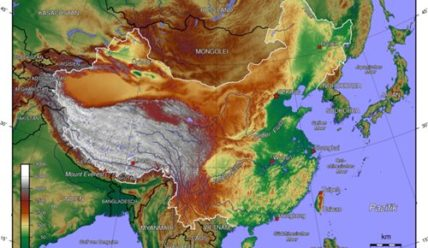 Географическое положение и границы Китая