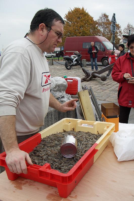 Продавец морепродуктов, Онфлёр, Рыбный порт