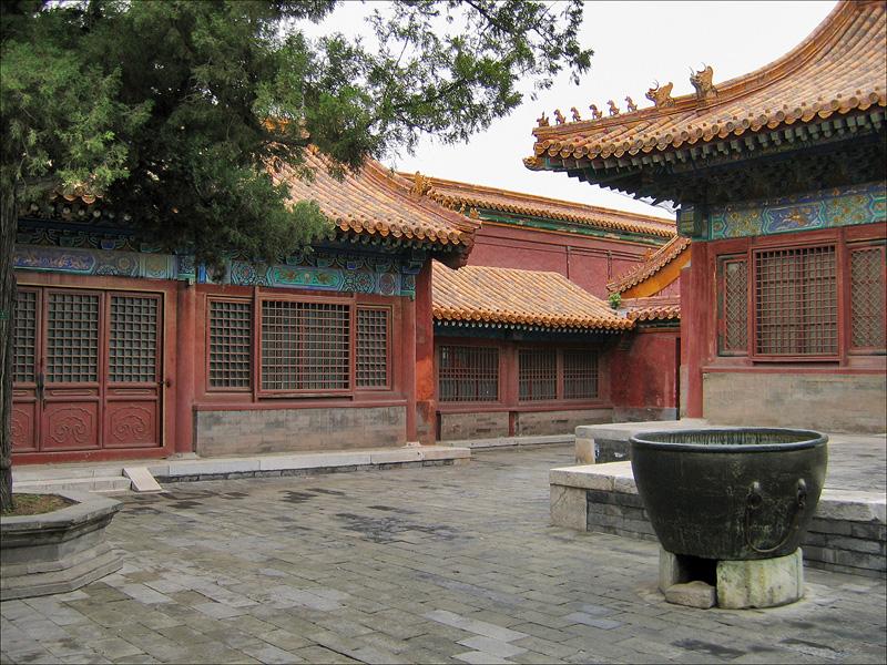 Один из дворов-сыхэюань в Запретном городе в Пекине