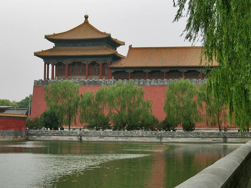 Одна из сторожевых башен Запретного города, Пекин