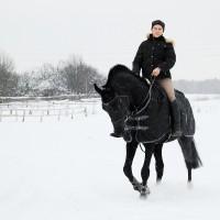 Суббота на конюшне: фотосессия Ангелины на Ревеле и Президенте