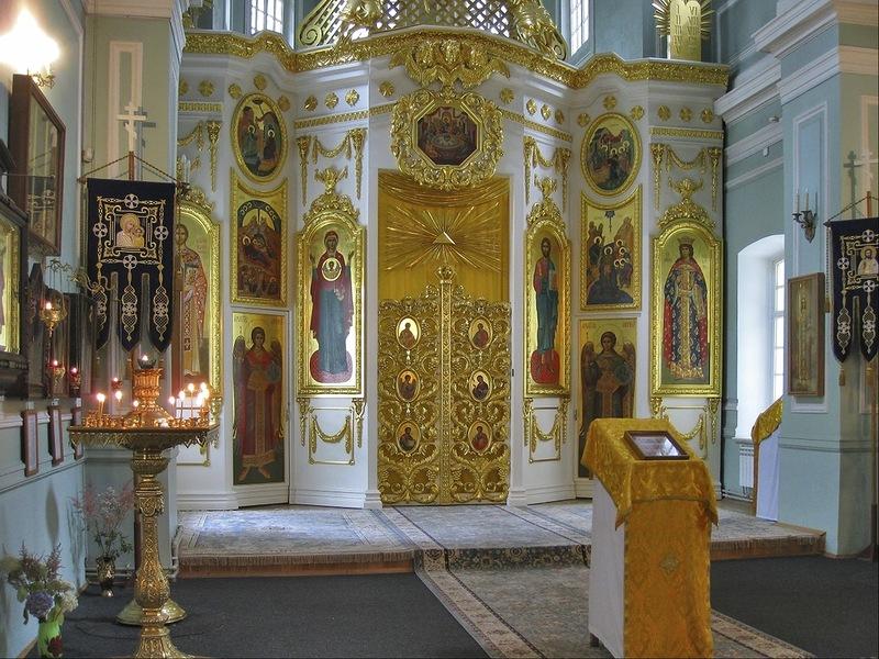 Внутреннее убранство Знаменской церкви, Пушкин