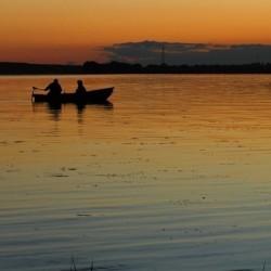 вечер, Иваньковское водохранилище
