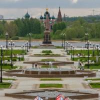 Дорога и утренняя прогулка по Ярославлю