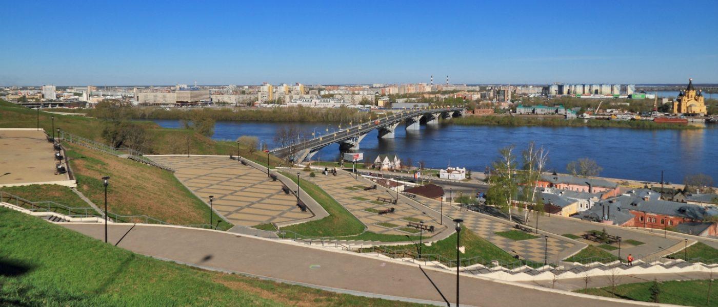 Набережная Федоровского и Волжский откос