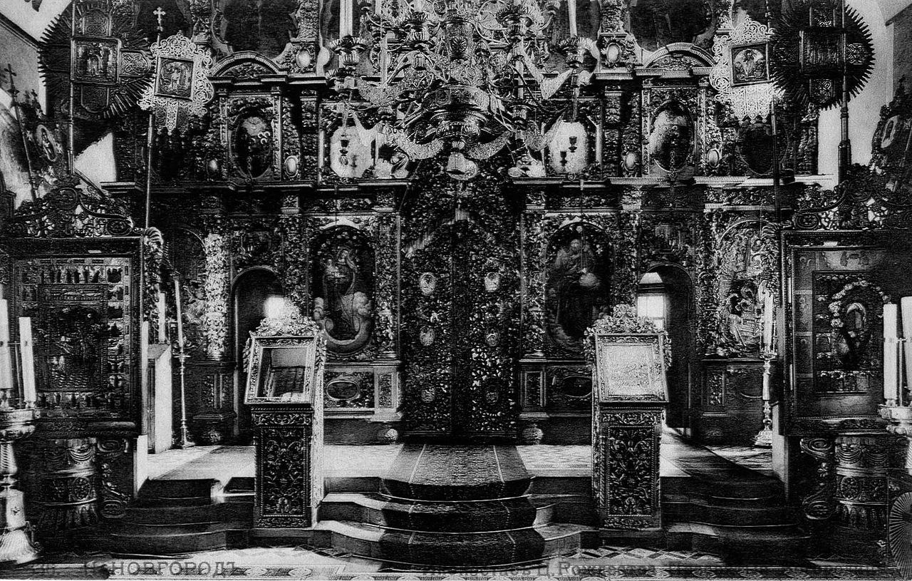 Иконостас Строгановской церкви, Нижний Новгород