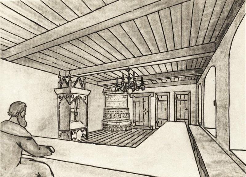 Столовая палата в новой части дома Печенко