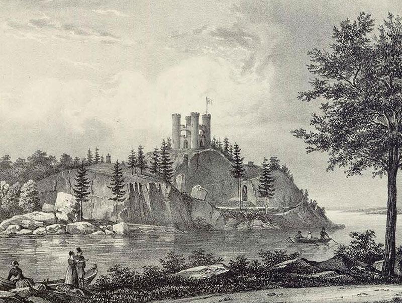Вид на капеллу Людвигштайн, Монрепо