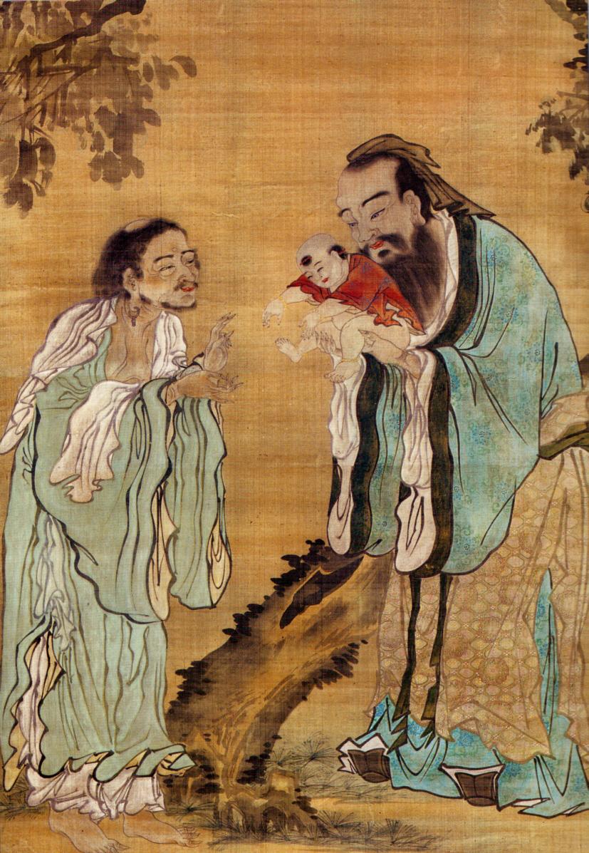 Конфуций, Лао-цзы и Будда
