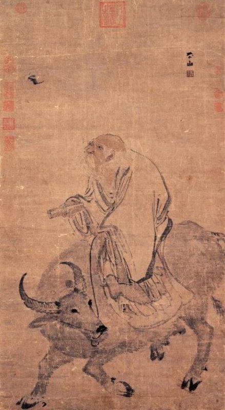 Лао-цзы едет на буйволе. Картина Чжан Лу (ок. 1490-ок.1563)