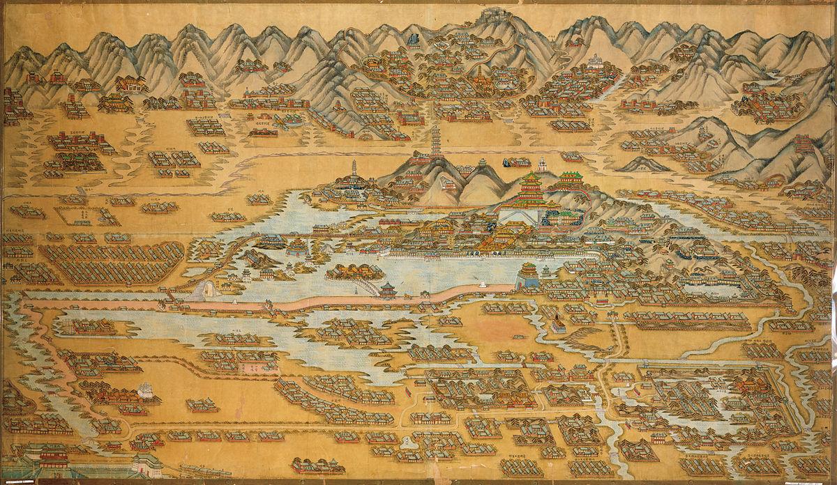 Иллюстрированный план Летнего дворца