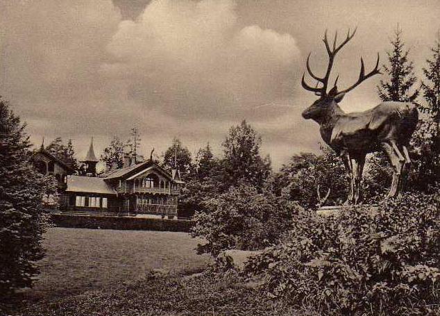 Скульптура оленя, сад Блонье, Смоленск