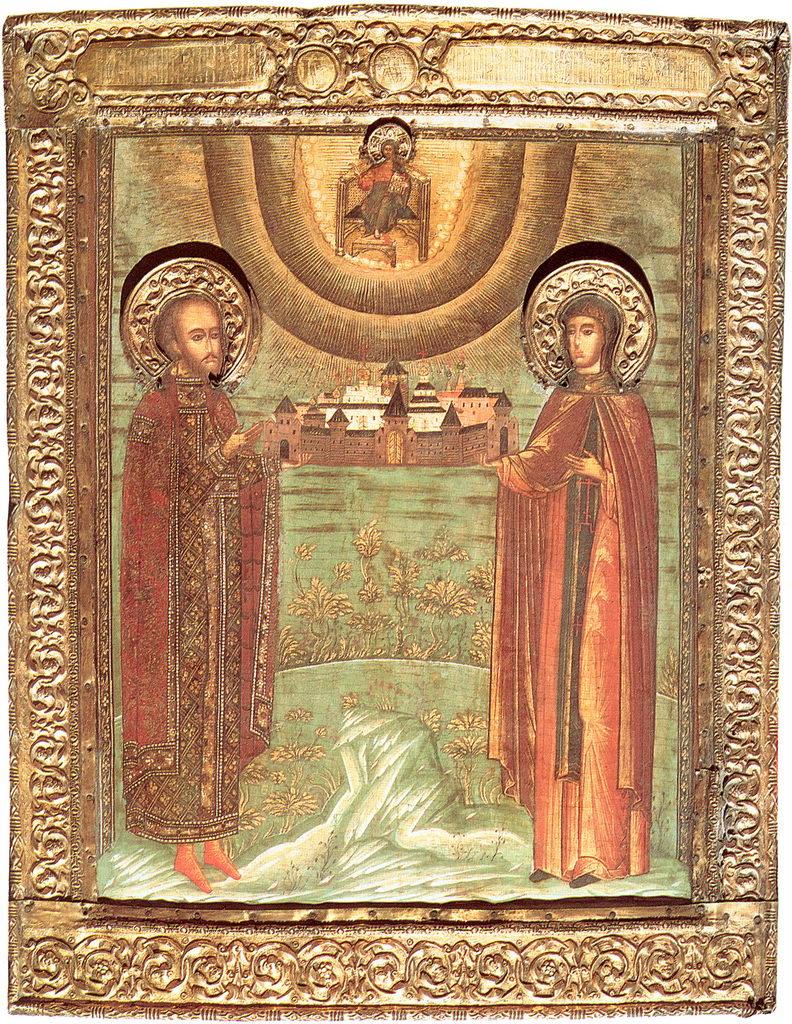 Михаил и Ксения Тверские, икона